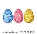 vector illustration of easter... | Shutterstock .eps vector #1310303113