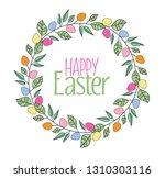 vector illustration of easter... | Shutterstock .eps vector #1310303116