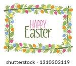 vector illustration of easter... | Shutterstock .eps vector #1310303119