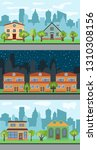 set of three illustrations of... | Shutterstock . vector #1310308156