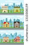set of three illustrations of... | Shutterstock . vector #1310308159