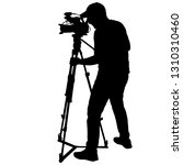 cameraman with video camera.... | Shutterstock . vector #1310310460