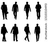 set silhouette businessman man... | Shutterstock . vector #1310310493