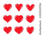 heart icon collection  love... | Shutterstock .eps vector #1310313556