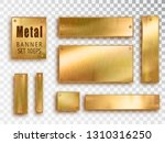 Metal Gold Banners Set...