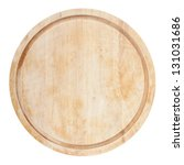 Round Chopping Board. Isolated...