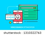 voice search optimization.... | Shutterstock .eps vector #1310322763