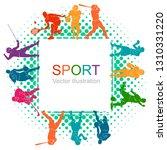 color sport background....   Shutterstock .eps vector #1310331220