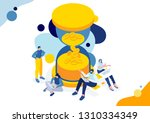 vector business illustration ... | Shutterstock .eps vector #1310334349