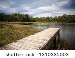 wooden pier built over a... | Shutterstock . vector #1310335003