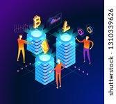 allocation concept. modern 3d... | Shutterstock .eps vector #1310339626