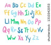 funky english alphabet in hand...   Shutterstock .eps vector #1310342053