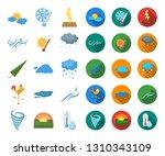 different weather cartoon flat... | Shutterstock .eps vector #1310343109