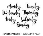 hand lettering days of week.... | Shutterstock .eps vector #1310346760