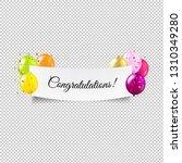 happy birthday banner... | Shutterstock .eps vector #1310349280