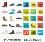 different shoes cartoon flat...   Shutterstock .eps vector #1310350306