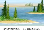 bays in the sea or a large lake.... | Shutterstock .eps vector #1310353123
