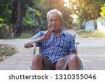 senior man on wheelchair in...   Shutterstock . vector #1310355046