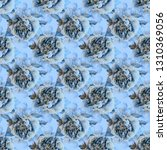 seamless floral pattern with... | Shutterstock . vector #1310369056