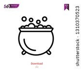 outline cauldron icon isolated... | Shutterstock .eps vector #1310370523