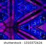 neon rays kaleidoscope color... | Shutterstock . vector #1310372626