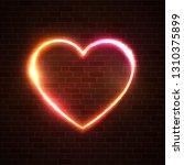 heart vector background.... | Shutterstock .eps vector #1310375899