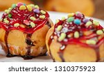 close up of garnished muffins...   Shutterstock . vector #1310375923