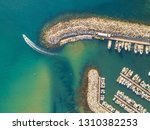 marina top down aerial view... | Shutterstock . vector #1310382253