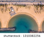 yellow low key beach on early... | Shutterstock . vector #1310382256