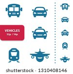 vehicles icons. professional ... | Shutterstock .eps vector #1310408146