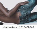 rear view of african black... | Shutterstock . vector #1310408863
