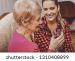 granddouther came with visit to ... | Shutterstock . vector #1310408899