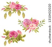 bouquet of colorful flowers and ...   Shutterstock . vector #1310432020