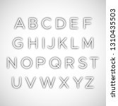 set of latin alphabet letters... | Shutterstock .eps vector #1310435503