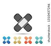 bandage plaster icon isolated... | Shutterstock .eps vector #1310437246