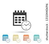 calendar and clock icon... | Shutterstock .eps vector #1310440696