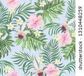 tropical vector seamless... | Shutterstock .eps vector #1310448259