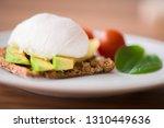 healthy breakfast with... | Shutterstock . vector #1310449636