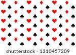 card icon pattern wallpaper...   Shutterstock .eps vector #1310457209