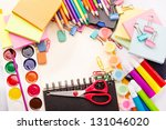 school and office stationary... | Shutterstock . vector #131046020