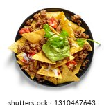 Plate Of Corn Chips Nachos With ...