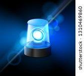 blue flashing police beacon... | Shutterstock .eps vector #1310469860