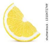 lemon slice  clipping path ... | Shutterstock . vector #1310472749