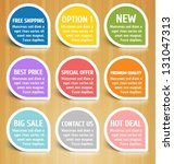 vector labels design elements... | Shutterstock .eps vector #131047313
