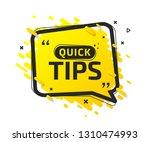 quick tips  helpful tricks ... | Shutterstock .eps vector #1310474993