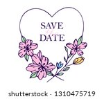 save the date hand drawn hearts ... | Shutterstock .eps vector #1310475719