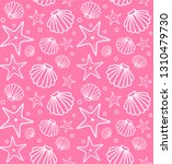 vector seamless pattern of sea... | Shutterstock .eps vector #1310479730