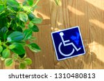 wheelchair and mark   Shutterstock . vector #1310480813