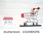 concept on the topic of sales.... | Shutterstock . vector #1310484296