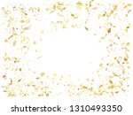 gold luminous confetti flying... | Shutterstock .eps vector #1310493350